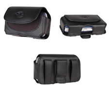 Premium Leather Pouch Cover Case Clip w Belt Loops - See the Compatibility