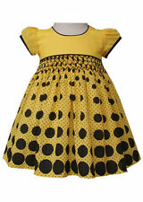 New Beautiful Girls Hand Smocked Bumblebee Dress Boutique Design 17592