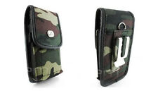 Vertical Camouflage Camo Rugged Heavy Duty Canvas Clip Pouch Cover Case