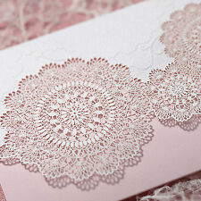 50 Kits Wedding Invitation Luxury Laser Cut 50 Cards +50 Evps+50 Seals B1008