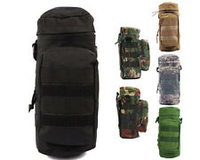 Tactical Molle Zipper Water Bottle Pouch Bag with Small Mess Pouch 6 Colors