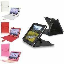 Pink/Red/White/Black PU Leather Case Cover Stand For Apple iPad 1 1st Gen