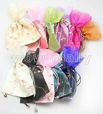 WHOLESALE LOTS HANDMADE GORGEOUS CHINESE SILK & VOILE JEWELRY BAGS