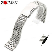 19mm or 20mm NEW HEAVY PURE SOLID 316L Stainless Steel Watch BANDS Bracelets S16
