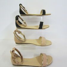 Ladies Savannah Open Toe  Sandals With Gold Metal Ankle Strap Style L6733