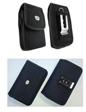 Vertical + Horizontal Rugged Case Cover Pouch Holster Clip for T-Mobile Phones