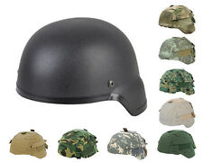 Tactical Airsoft Paintball Hunting MICH 2000 ABS Helmet Black with Helmet Cover