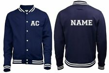 NEW MENS WOMENS KIDS YOUR NAME & INITIALS VARSITY AMERICAN STYLE COAT JACKET