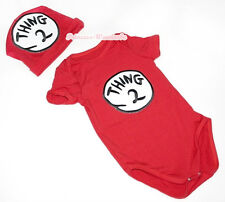 Toddler Newborn Baby Boy Girl Hot Red Things Circle 2 Jumpsuit Romper NB-12Month