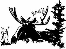Moose Decal ST#1 Big Game Hunting Truck Window Decals and Stickers