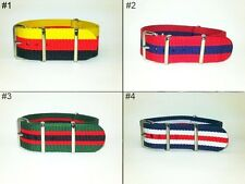 18mm, 20mm,  22mm, 24mm G10 Military James Bond 007 Premium Nylon Watch Bands