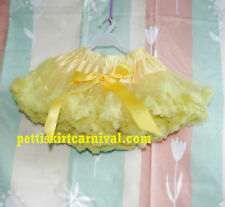 HALLOWEEN XMAS PRINCESS GIRLS YELLOW PETTISKIRT PAGEANT BIRTHDAY TUTU 6M-8Y