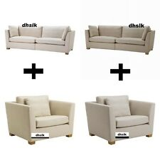 IKEA STOCKHOLM 3.5 Sofa AND 1.5 Armchair SLIPCOVER Cover GAMMELBO BEIGE 0r BROWN