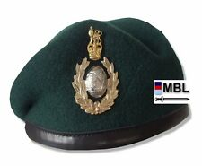 RM-ROYAL MARINES COMMANDO WO1 & OFFICER GREEN BERET & A/A CAP BADGE ( SBS)
