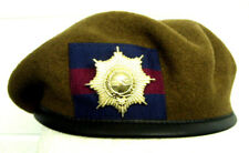 CG - COLDSTREAM GUARDS BERET & BRASS CAP BADGE HIGH QUALITY 54-62 cm