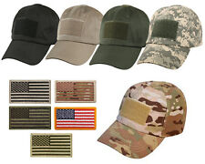 Special Forces Operator Tactical American US Flag Velcro Patch Baseball Hat Cap