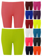 New Ladies Plain Jersey Cycling Shorts Ladies Sport Shorts Inc Plus Sizes 8-22