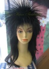 Elvira Mistress Long Spike Punk Wig Halloween Costume Accessory Adult Woman 4017