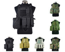 Airsoft Tactical Military Paintball Molle Combat Assault Plate Carrier Vest