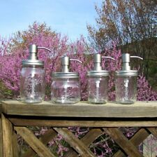 Mason Jar Hand Soap Dispenser with Stainless Steel Soap Pump - NEW