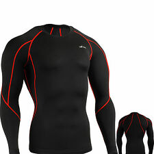 EMFRAA Mens Compression shirts under gear Layer Skin Long Sleeve tight Top S~2XL