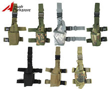 Airsoft Tactical Military Pistol Gun Drop Leg Thigh Holster Pouch Bag Right Hand