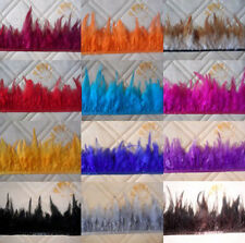 Beautiful pheasant Neck Feather Fringe Trim 12 color/quantity choice 3-5inch