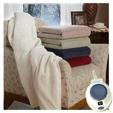 Soft Heat Micro-Plush Low Voltage Electric Heated Triple Rib Throw Blanket