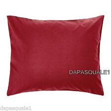 IKEA SOMNIG - Pillowcase Pillow Sham Queen King Euro Dark Red NEW