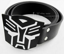New Hot Transformers Autobot Decepticons Optimus Prime Mens Buckle Leather Belt