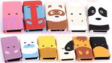 New Forest Cartoon Animals PU Leather Flip Wallet Case For iPhone/Samsung Phones