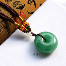 s1199 Grade A Natural Tanglin Jade Green Meaning Peace Ring Jade Pendant ZK