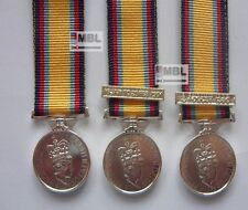 GULF WAR MINIATURE MEDAL WITH / WITHOUT BARS 2nd AUGUST - 16 JAN - 28 FEB 1991