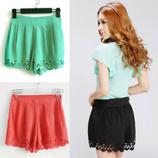 Candy Color Girl Women Show Thin Skirts Shorts Elastic Lace Pants Short Skirt O