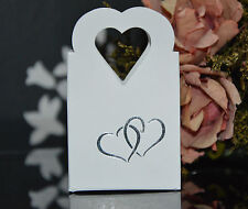 White Wedding, Engagement, Anniversary, Party Cake Favour Boxes Table Decoration