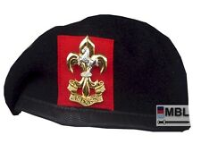 KINGS REGIMENT BERET WITH SILVER PLATE & GILT CAP BADGE,  HIGH QUALITY 54-62 cm