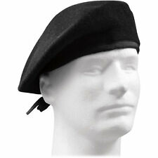 US Army Military Black Beret (No Flash)