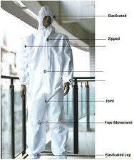 Disposable Coveralls Overalls Boilersuit Hood Painters Protective Suit