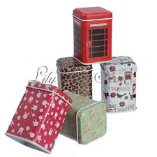 NEW Trinket Mini Small Metal Square Candy Coin Storage Tin Jewelry Iron Box