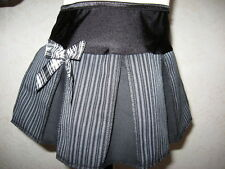 NEW  Black,Grey,White Pinstriped Check,Retro,Rock,Party,Goth Skirt-All sizes