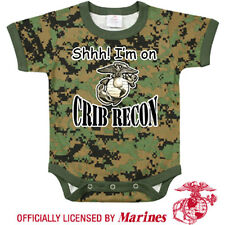 Infant Onsie USMC Crib Recon Camo One Piece Bodysuit