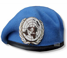 OFFICIAL UNITED NATIONS BERET & OR's GILT CAP BADGE  54 - 62cm  HIGH QUALITY UN