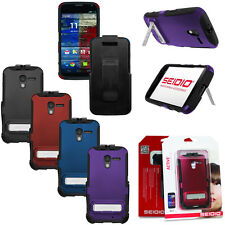 Seidio Active Case Cover w/ Stand & Holster Belt Clip Combo for Motorola Moto X