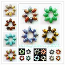 YIYI-53 New!8pcs Mixed Gemstone Pendant Bead Wholesale!please Pick Stone