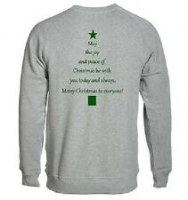NEW KIDS WOMENS MENS MERRY CHRISTMAS FESTIVE RELIGOUS VERSE NATIVITY SWEATSHIRT