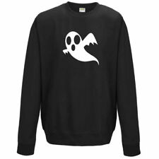 NEW KIDS WOMENS MENS HALLOWEEN GHOST SPOOKY CREEPY COSTUME SWEATSHIRT JUMPER