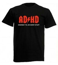 NEW Kids Uomo Donna all' ADHD ACDC autostrada a oooh Lucente Stuff T Shirt Tee Top