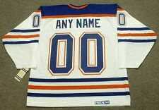 "EDMONTON OILERS 1980's CCM Vintage Throwback Home ""Customized"" NHL Hockey Jersey"