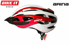 NEW ARINA CORSE PRO CYCLE HELMET - ADULT RED- ROAD RACE MTB BICYCLE CYCLING BIKE