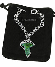 Elven Leaf Brooch BRACELET Chain Hobbit LOTR Lord Of The Rings Legolas Aragon